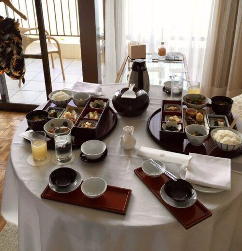 ブセナテラス ルームサービスの朝食