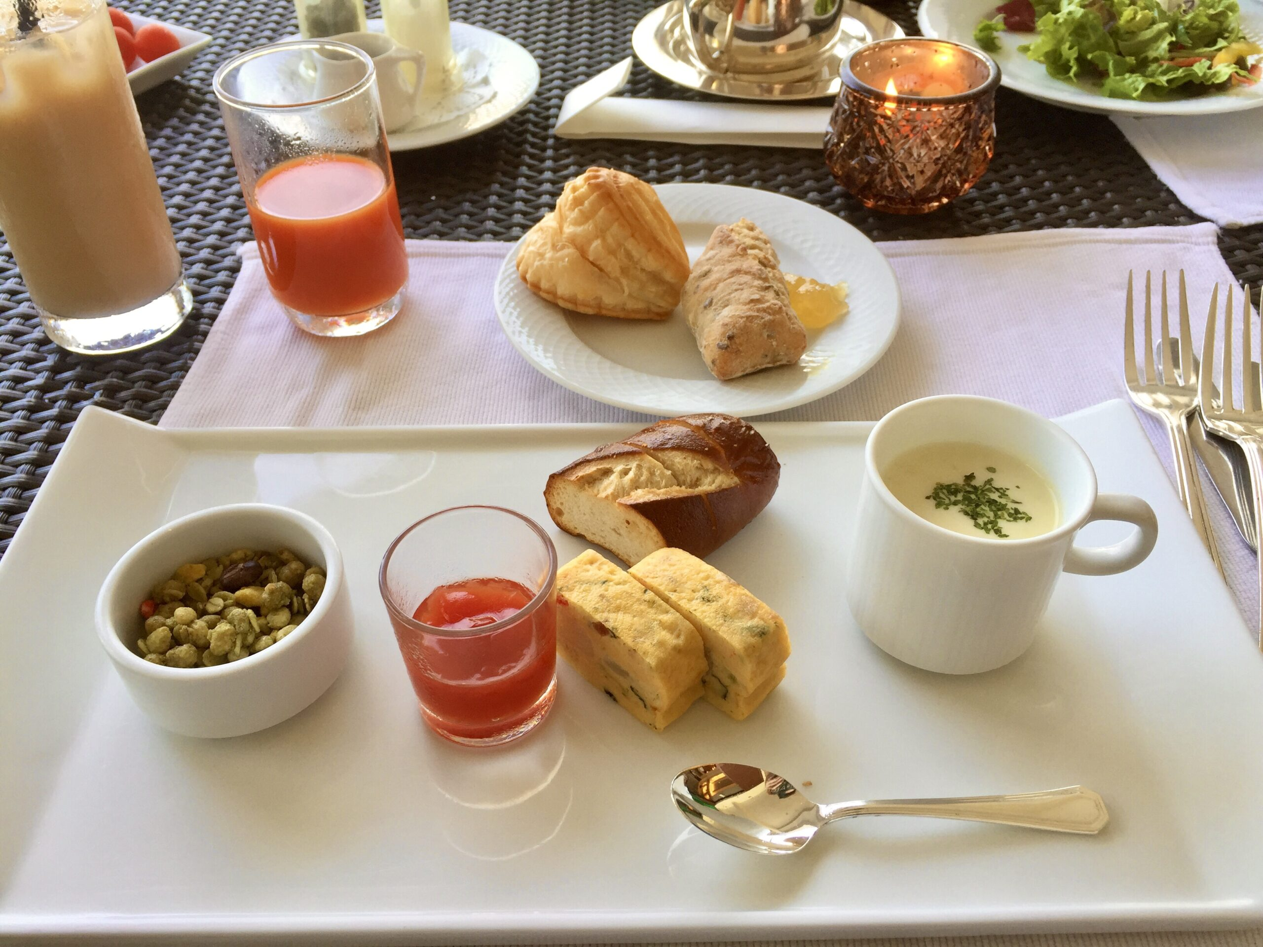 ジアッタテラスクラブタワーズの朝食 ファインダイニング