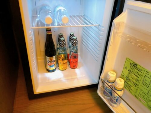 グランディスタイル沖縄 プレミアムコーナースイート 冷蔵庫